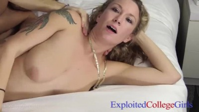 21 Yo Real Double DD Coed Candice Gets Totally Exploited