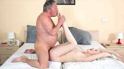 Blonde Amateur Young Fucked Hard by old Man