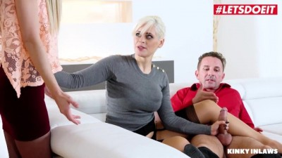 Daughter Joins in after Catching Mom Fucking