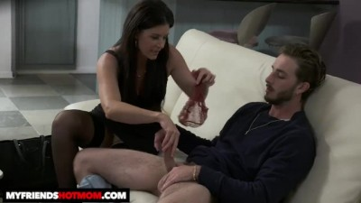 Hot Milf India Summer fucks and sucks young cock