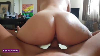 Young Latina Big Ass Twerking on Daddys Dick