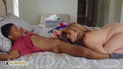 Older White MILF Sara Jay Fucks Teenager Black Dick
