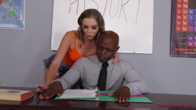 Dominant Student makes her Teacher Lick her Ass