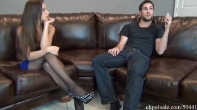 Ashlynn Taylor Secretary Pantyhose Foot Tease