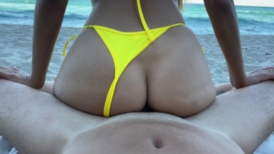 Wonderful Day at the Beach with Amazing Petite Babe