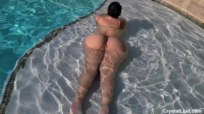 Lucky Horny Pool Boy Fucks Thick Latin Amateur Teen Babe