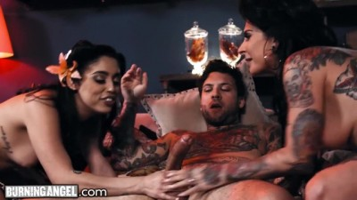 Hot Joanna Angel and her Tikki Girl Fuck their Hostage Hard