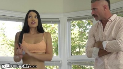Nympho Young makes Stepdad Feel her Wetness