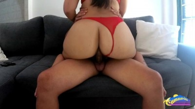 Amazing Ass Gets Fucked in Red Lingerie