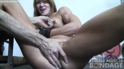 Fit Redhead Slut she uses her Bound Hands to Play