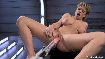 Darling is Machine Fucked in her Pussy and Ass