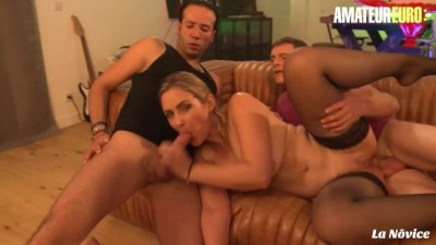 Big Ass Amateur French MILF has a HOT Anal Lesson Threesome